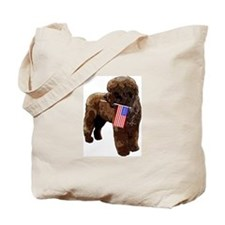 Brown PWD with Flag Tote Bag