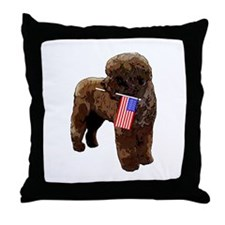 Brown PWD with Flag Throw Pillow