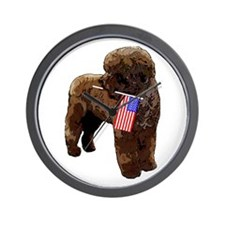 Brown PWD with Flag Wall Clock