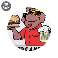 "Beer & Burgers 3.5"" Button (10 pack)"