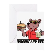Beer & Burgers Greeting Card