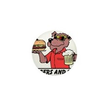 Beer & Burgers Mini Button (10 pack)
