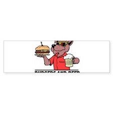 Beer & Burgers Bumper Bumper Sticker