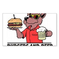 Beer & Burgers Rectangle Decal