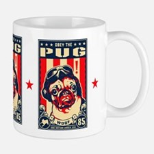 Obey the Pug! USA Flying Ace Freedom Mug