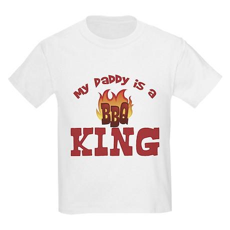 Daddy is a BBQ King Kids Light T-Shirt