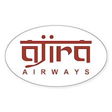 Ajira Airways Oval Decal
