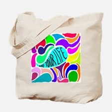 Unique Color your life Tote Bag