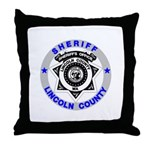 Sheriff Lincoln County Throw Pillow