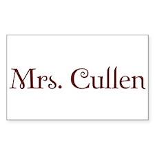 Mrs. Cullen Rectangle Decal