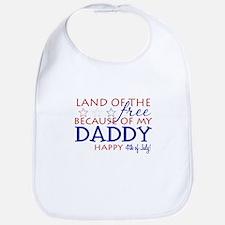 Land of the free ... daddy Bib