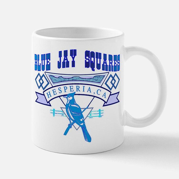 BLUE JAY SQUARES Mug