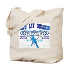 BLUE JAY SQUARES Tote Bag