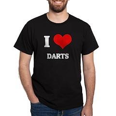 I Love Darts Black T-Shirt