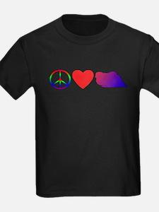 Peace Love Pekingese T