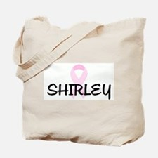 SHIRLEY pink ribbon Tote Bag