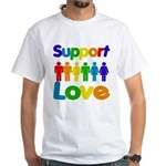 Support Love White T-Shirt