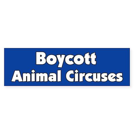 Boycott the Circus Bumper Sticker