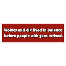 Wolves and Elk Bumper Bumper Sticker