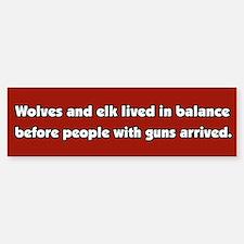 Wolves and Elk Bumper Bumper Stickers