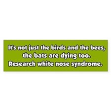 White Nose Syndrome Bumper Bumper Sticker