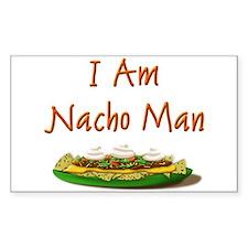I Am Nacho Man Rectangle Decal