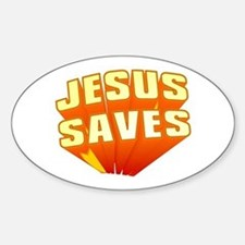 Jesus Oval Decal
