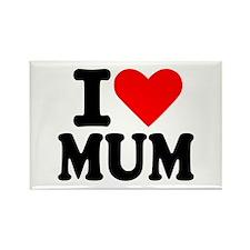 I love Mum Rectangle Magnet