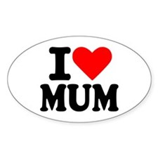 I love Mum Oval Decal