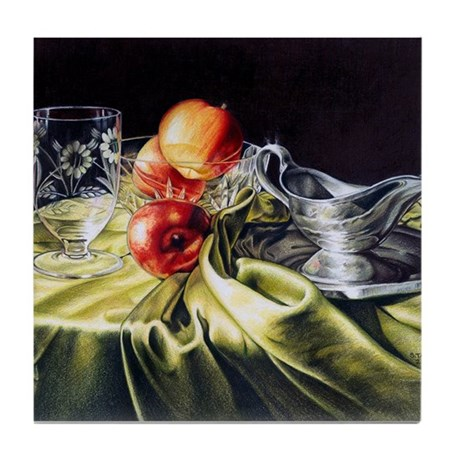 Red & Green Series #1 Tile Coaster