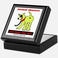 Animal Abusers Can Kiss It! Keepsake Box