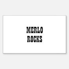 MERLO ROCKS Rectangle Decal