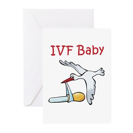 IVF Stork Greeting Cards (Pk of 10)