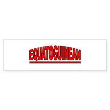"""""""Equatoguinean"""" Bumper Bumper Sticker"""