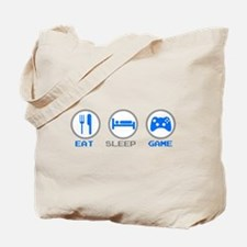 Eat Sleep Game Tote Bag