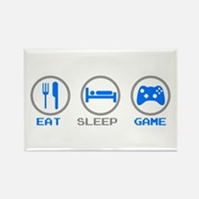 Eat Sleep Game Rectangle Magnet