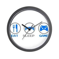 Eat Sleep Game Wall Clock