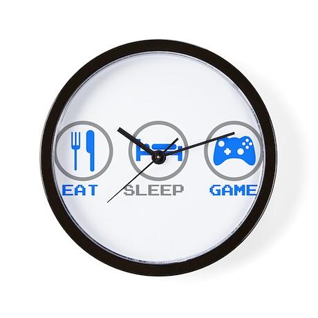 Eat Sleep Game Wall Clock