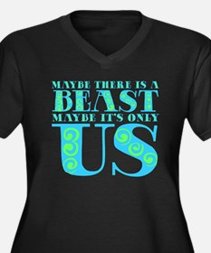 Maybe there is a Beast Women's Plus Size V-Neck Da
