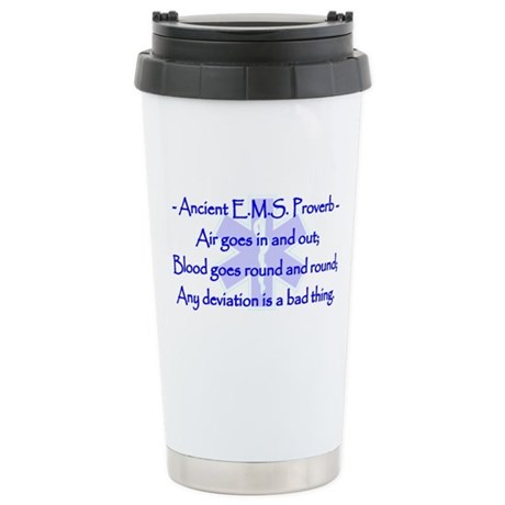Ancient EMS Proverb Stainless Steel Travel Mug