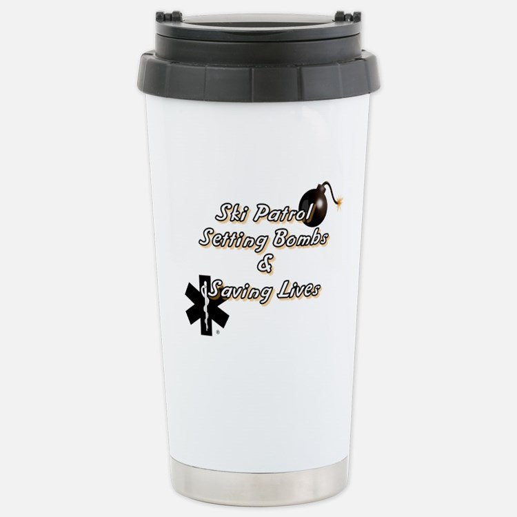 Ski Patrol Stainless Steel Travel Mug