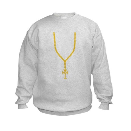 Rosary - Necklace Kids Sweatshirt