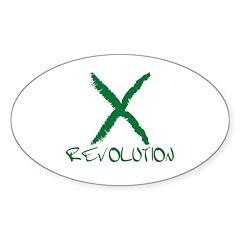 Iran Revolution Oval Sticker (50 pk)