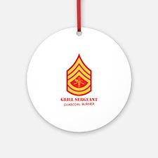 Grill Sgt. Ornament (Round)