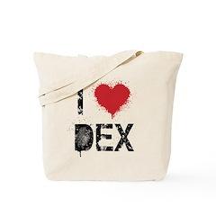 I [heart] Dex Tote Bag