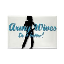 Funny Army wives Rectangle Magnet