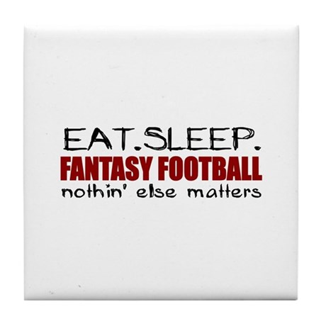 Eat Sleep Fantasy Football Tile Coaster