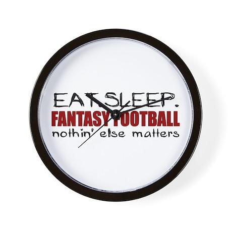 Eat Sleep Fantasy Football Wall Clock