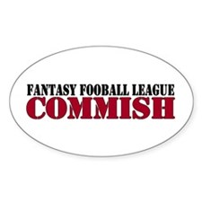 Fantasy Football Commish Oval Decal