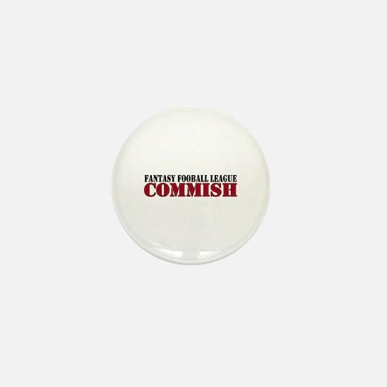 Fantasy Football Commish Mini Button (10 pack)